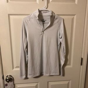 Nike Therma-Fit White Quarter Zip Pullover
